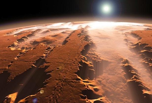 على المريخ